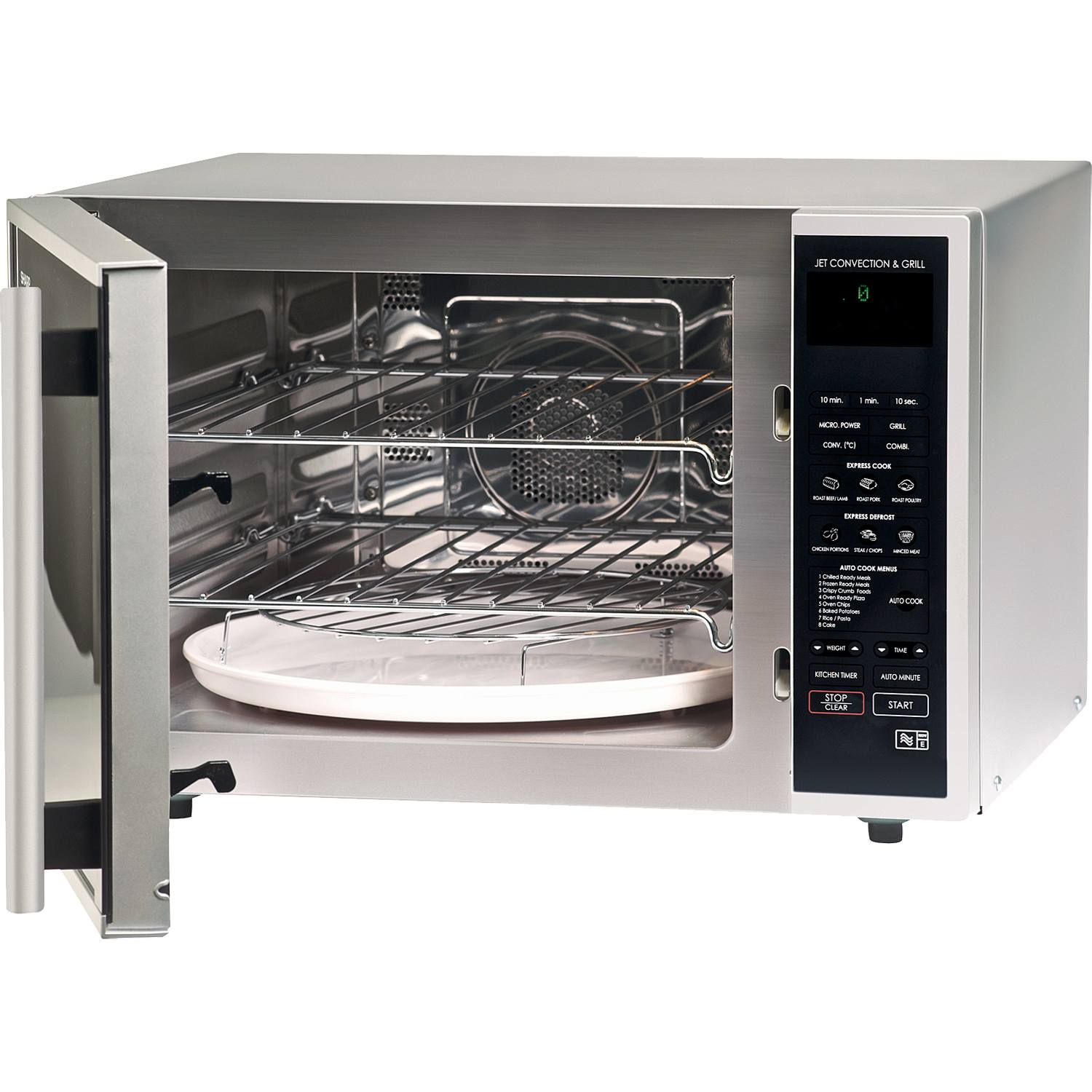 Sharp R959slmaa 40l 12 Programmes Combination Microwave Oven In Silver Black 219 00